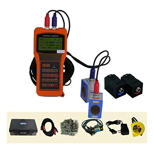 TR-DTI-100H-M1 + HM1 Portable Ultrasonic Flow Meter Velocity Tester for Liquids DN50 ~ DN700mm with Bracket M1 HM1 High Temp. Transducer -30~160 C Sensor Oil Sewage Digital Flowmeter DTI Meter