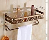 HYP-European American Antique Bathroom Set pendant towel rack toilet brush tissue rack?Étagère unique