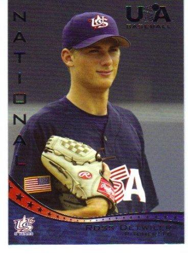 2006-07 (2007) USA Baseball # 10 Ross Detwiler (Pre-Rookie Baseball - Ross Usa Store