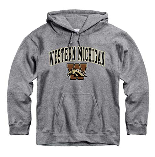 Campus Colors Western Michigan Broncos Arch & Logo Gameday Hooded Sweatshirt - Sport Gray, Small