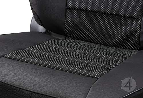 Kunstleder /Überz/üge Carbon Universell geeiget f/ür Mitsubishi Pajero Schwarz 2stk Set
