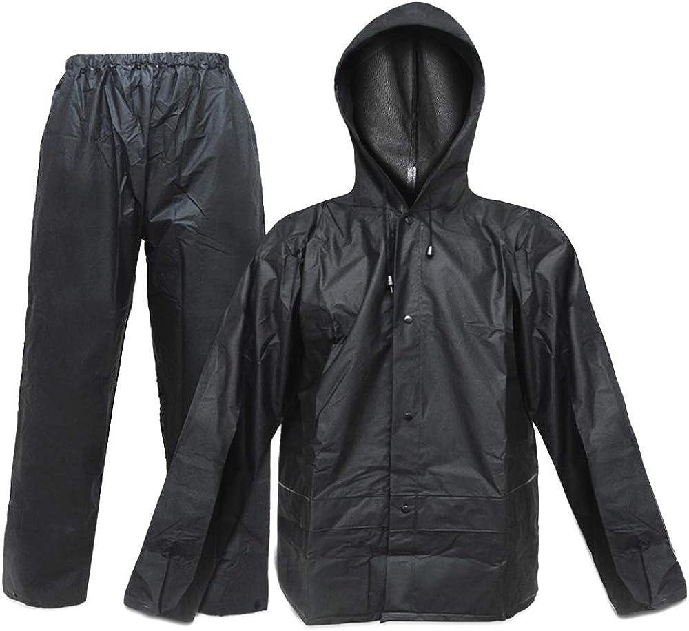 Rain Suit for Men Women EVA Ultra-Lite Waterproof Protective Rain Coat Jacket with Pants Rain Gear Workwear: Clothing