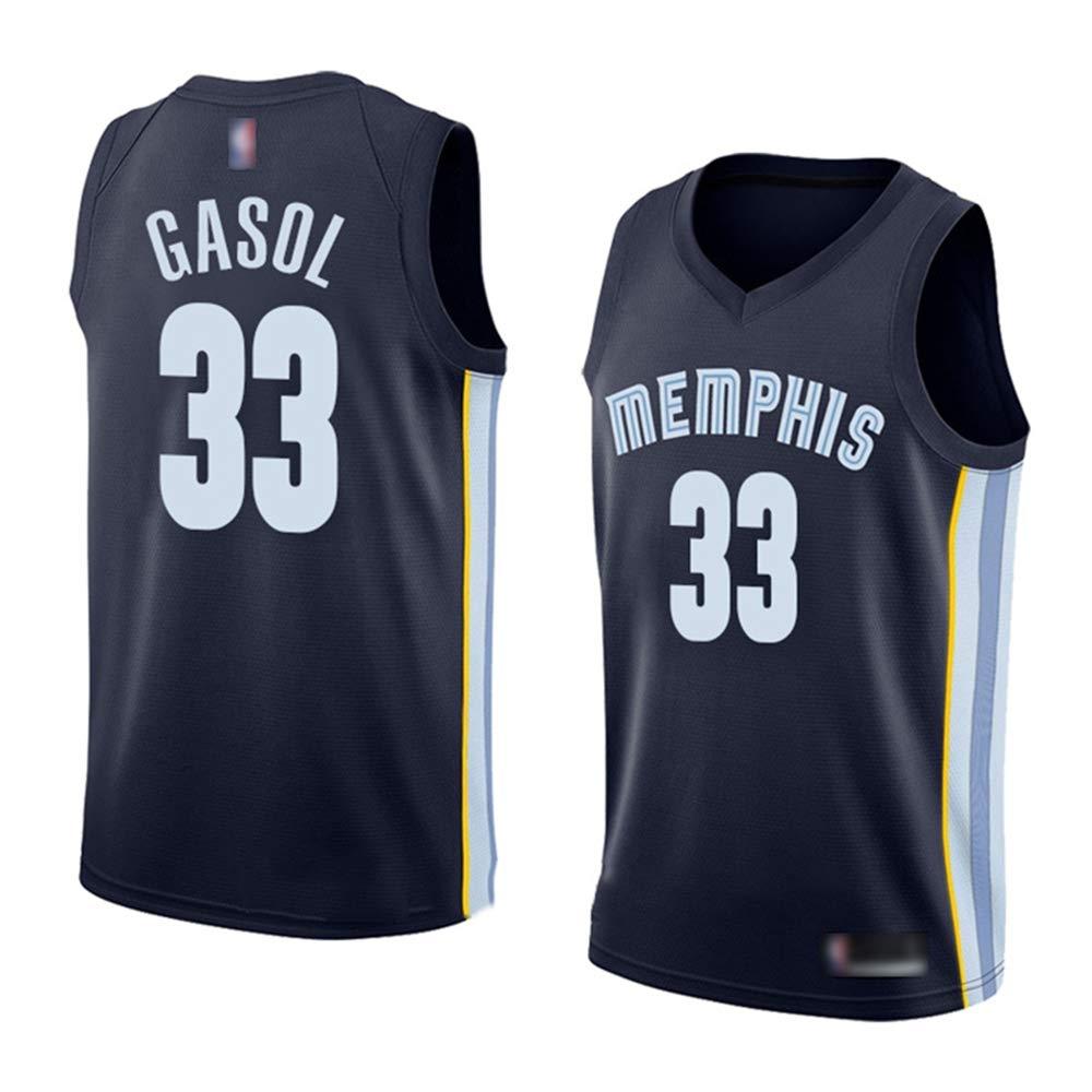 YQSB NBA Camisetas Grizzlies 33# Gasol Uniformes de Baloncesto ...