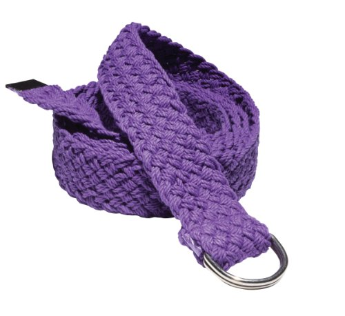 Gaiam Braided Yoga Strap 6' Deep Purple