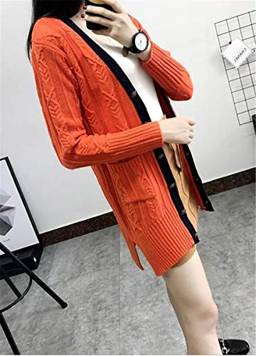 Longues Hiver Saoye Manteau Femme Cardigan Fashion Tricot en Automne nxqzHPA7
