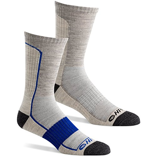 Hi Tec Men S Performance Hiking Socks For Outdoors  Casual Use  Pack Of 2 Pairs    Grey