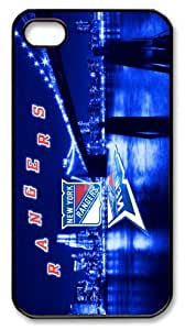 NHL sports diy,custom,hard shell for Iphone4,4s case cover New York Rangers blue beautiful city background -178 by mcsharks
