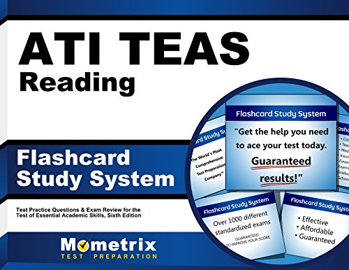 ATI TEAS Reading Flashcard Study System: TEAS 6 Test Practice Questions & Exam Review for the Test of Essential Academic Skills, Sixth Edition (Cards)