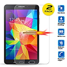 """[2 Pack] Galaxy Tab 4 - 8.0"""" Screen Protector, ANGELLA-M HD [Crystal Clear] Tempered Glass Screen Protector for Samsung Galaxy Tab 4 - 8.0"""" T330 T331 T337"""