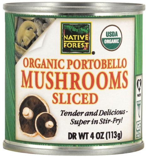 Native Forest Organic Sliced Portobello Mushrooms, 4-Ounce Cans (Pack of 12) (Sauce Organic Mushroom)