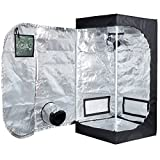 Price Off Peseetek Indoor Grow Tent With Green Observation Window Stronger Steel Frame&High Reflective Mylar Grow Room For IndoorPlanting Grow Tent Floor Tray Included (24''x24''x48'' D Door With Window)