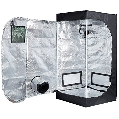 $52.55 indoor grow tent setup Peseetek Indoor Grow Tent with Green Observation Window Stronger Steel Frame&High Reflective Mylar Grow Tents for Indoor Plants Floor Tray Included (24″x24″x48″ D Door with Window) 2019