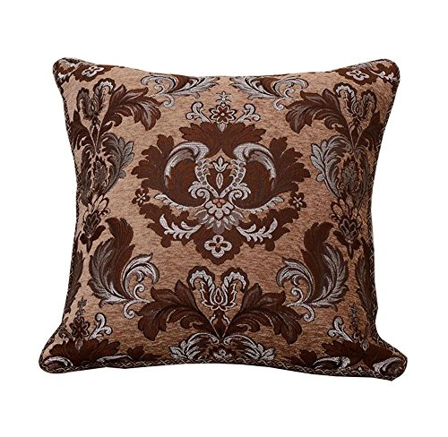 (Sideli Luxury Chenille Jacquard Sofa Cushion Cover Throw Pillow Cover (20