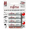 4-Pk. Fujitsu AA 2000mAh 2100 Cycles Rechargeable Batteries