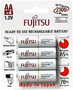 4-Pk Fujitsu AA 2000mAh 2100 Cycles Rechargeable Batteries