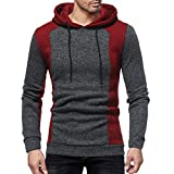 Caopixx Mens Hoodies Gym Workout Active Muscle Bodybuilding Long Sleeve Sweatshirts Casual Hooded Pullover