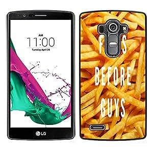 Dragon Case - FOR LG G4 - fries before guys - Caja protectora de pl??stico duro de la cubierta Dise?¡Ào Slim Fit