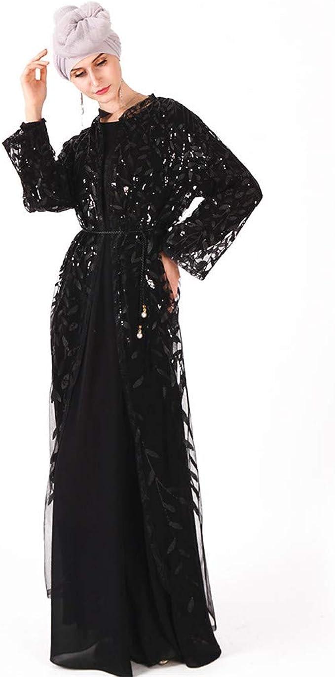 Dubai Womens Open Cardigan Muslim Long Maxi Cocktail Dress Islamic Jilbab Robe