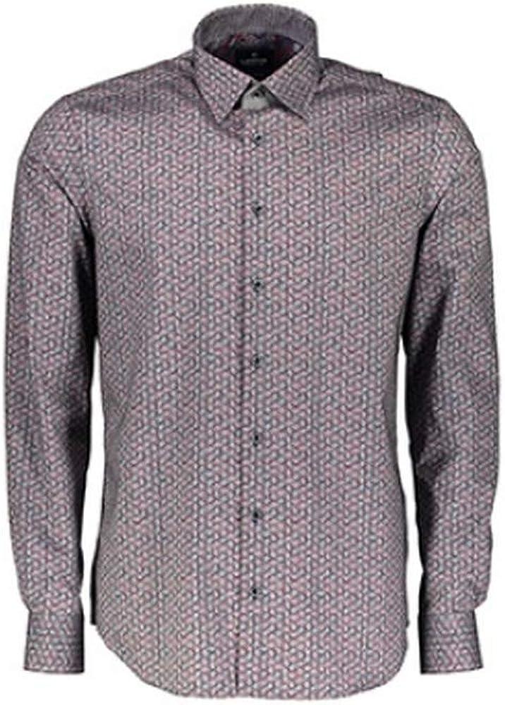 LERROS - Camisa Formal - para Hombre Rosa Oscuro M: Amazon.es: Ropa y accesorios