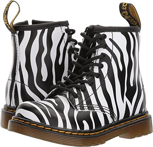 Dr. Martens Kid's Collection Womens Brooklee ZBR (Toddler) Zebra Print Backhand 8 UK (US 9 Toddler) M