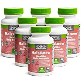 HairAnew (Unique Hair Growth Vitamins with Biotin) - Tested - for Hair, Skin & Nails - Women & Men - Addresses Vitamin Deficiencies That Could Be The Cause of Hair Loss/Lack of Regrowth (6)