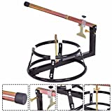 Globe House Products GHP Black Iron Long Lever Motorcycle Bike Tire Changer for 16''+ Diameter Wheels