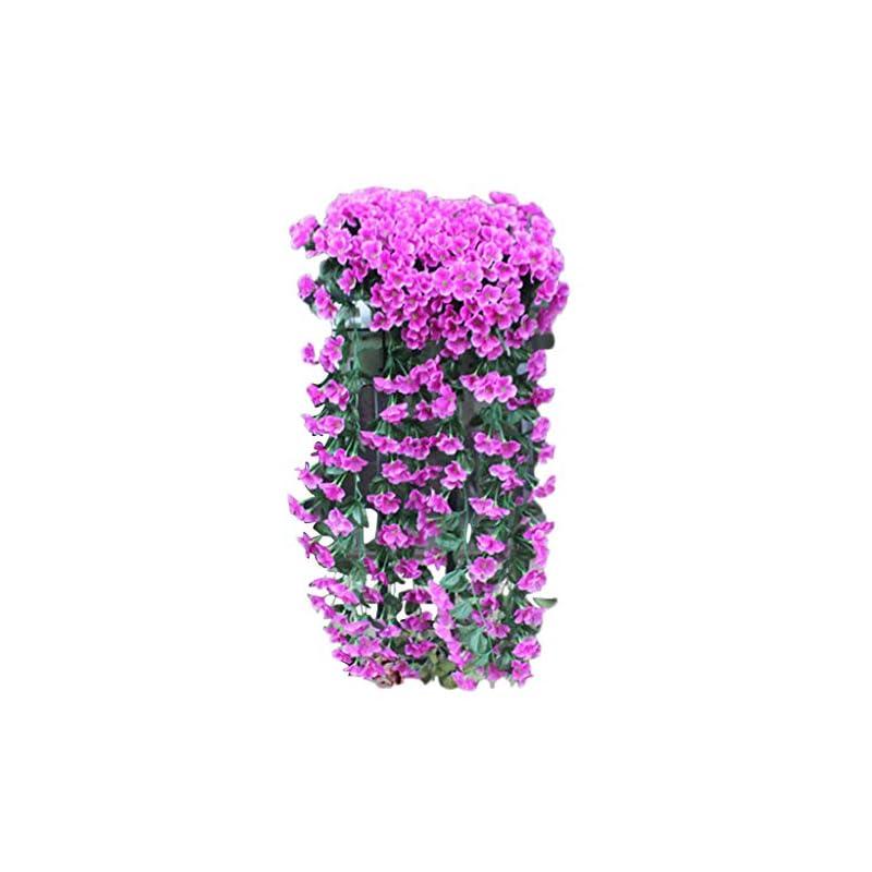 silk flower arrangements fheaven fakes flowers artificial violet flower wall wisteria basket hanging garland vine flowers fake silk orchid hanging for home,garden,wedding decoration (purple)