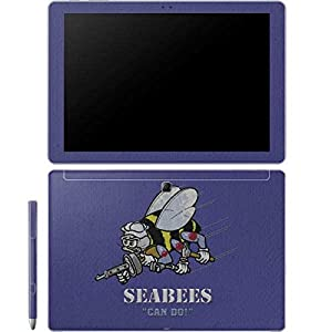 Skinit Seabees Can Do Galaxy Book 12in Skin - Officially Licensed US Navy Laptop Decal - Ultra Thin, Lightweight Vinyl Decal Protection from Skinit