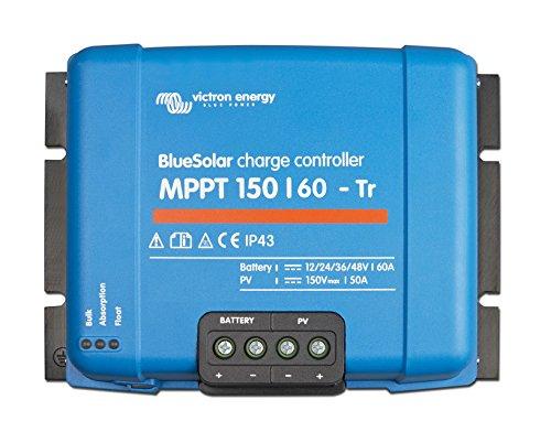 Victron Energy Bluesolar Laderegler Solar MPPT 150/45-TR 12/24/36/48 V, 45 A, 1 Stück, SCC010045200