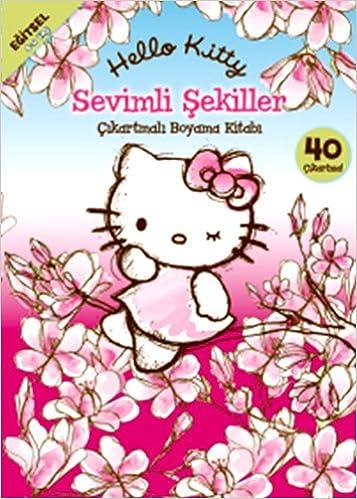 Hello Kitty Sevimli Sekiller Br çikartmali Boyama Kitabi