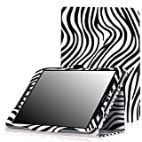 MoKo Samsung Galaxy Tab S2 8.0 Case - Slim Folding Cover Case With Auto Wake / Sleep for Samsung Galaxy Tab S2 / S2 Nook 8.0 inch Tablet, Zebra BLACK (With Auto Wake / Sleep and Stylus Pen Loop)