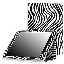 MoKo Samsung Galaxy Tab S2 8.0 Case - Slim Folding Cover Case With Auto Wake / Sleep for Samsung Galaxy Tab S2 / S2 Nook 8.0 inch Tablet, Zebra BLACK (With Auto Wake / Sleep and Stylus Pen Loop)