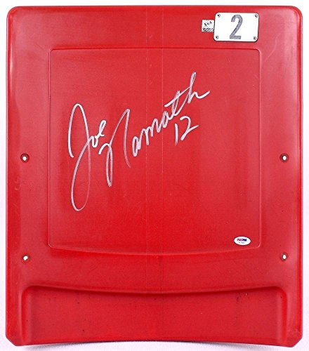 Joe Namath Signed Game Used Ny Jets Giants Stadium Meadowlands Seat Back Coa - PSA/DNA Certified - NFL Game Used Stadium Equipment