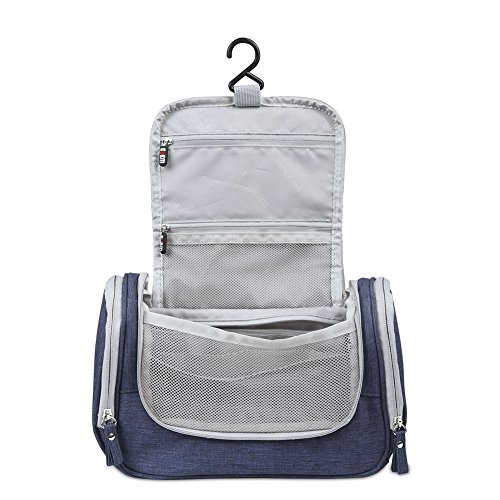 bf907ec48f BUBM Toiletry Bag-Portable Travel Kit Organizer with Hanging Hook ...