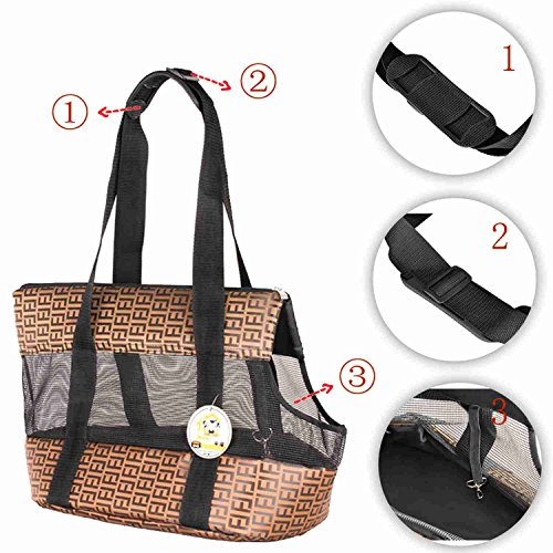 Travel-Pet-Carrier-Purse-By-ANGEL-DOGGY-Small-Dog-Cat-Polyester-Travel-Tote-Comfortable-Soft-Sided-Airline-Approved-Shoulder-Handbag-For-Puppy-Kitten-Go-Shopping-Hiking-Walking-With-Doggy