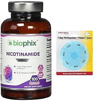 Vitamina B-3 nicotinamida 500 mg 100 Caps descarga gratis con gratis 7 días plástico
