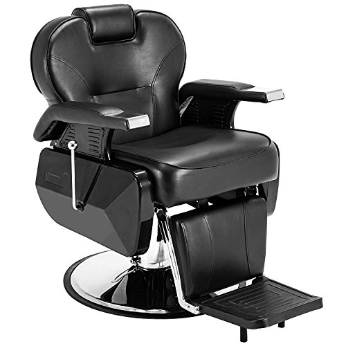 ARTIST HAND Black All Purpose Hydraulic Recline Barber Chair Salon Beauty Spa Shampoo Styling Chair for Beauty Shop (1 PCS, Black)