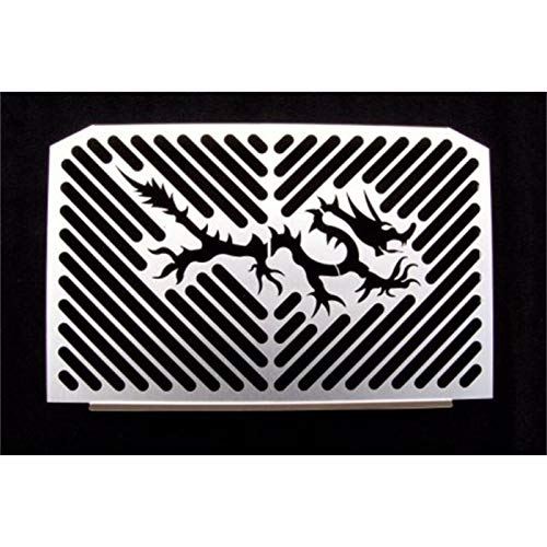 IBEX 10004504 Radiator Cover Water Cooler Grille Radiator Guard Radiator Cover Dragon Silver:
