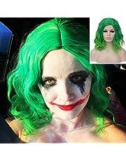 "BERON 14"" Women Girls Short Curly Bob Wavy Wig Body Wave Halloween Cosplay Daily Party Wigs"