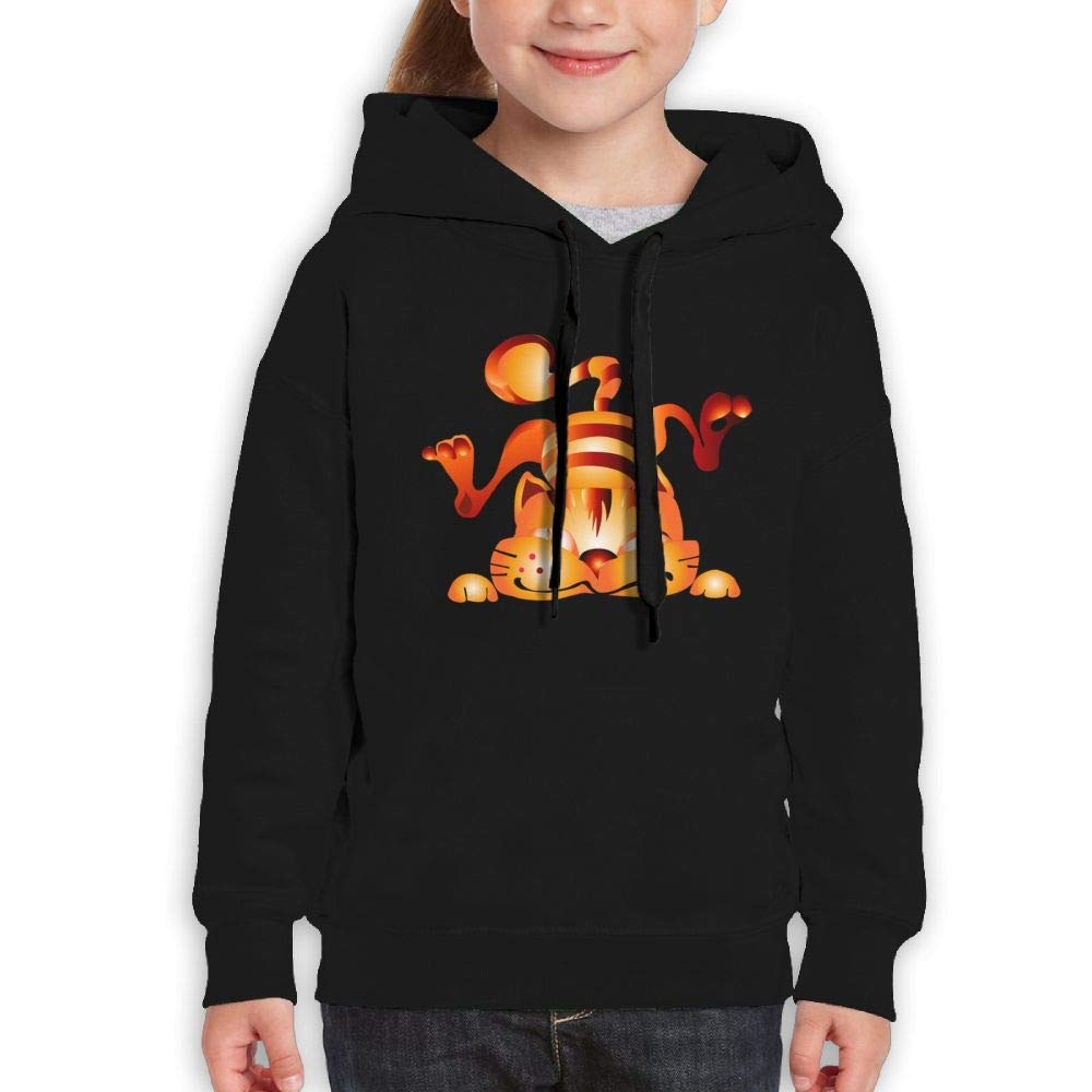 Interesting Fall Tiger Youth Hoodies Print Long Sleeve Sweatshirts Girl