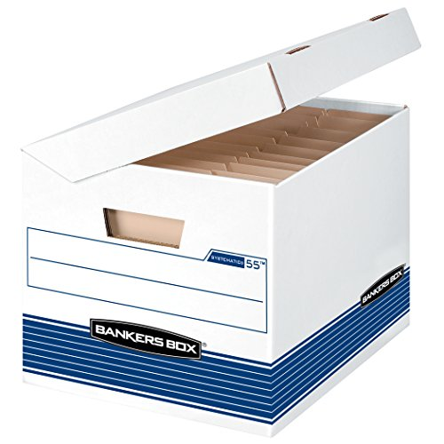 Bankers Box Systematic Medium-Duty Storage Boxes, Letter/Legal, 12 Pack - Fold Box Fast Bankers