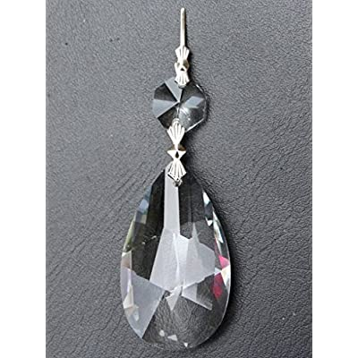 hierkryst Clear Teardrop Crystal Hanging Prisms, Pack of 10: Toys & Games