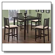 Coaster Dining Table and Stools 5-Piece Set, Counter Height, Cappuccino Finish