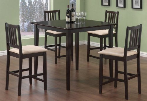 coaster-dining-table-and-stools-5-piece-set-counter-height-cappuccino-finish