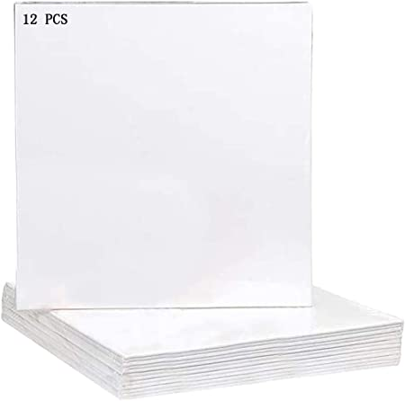 Acrylic Oil Painting Canvas Boards 100/% Cotton for Acrylic Oil Gouache Tempera Paints Suitable for Oil Painting Beginners Students and Amateur Painters 12 Pack 4 x 4 inch Painting Canvas Panels