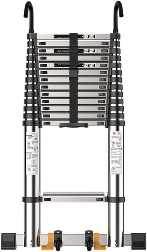 ZWYY Escalera telescópica, Escalera de extensión Antideslizante de Uso múltiple de Uso múltiple de la Escalera Vertical de Aluminio telescópica Profesional,2.7m: Amazon.es: Jardín