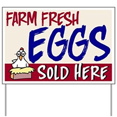 CafePress - Eggs Sold Here Yard Sign - Yard Sign, Vinyl Lawn Sign, Political Election Sign