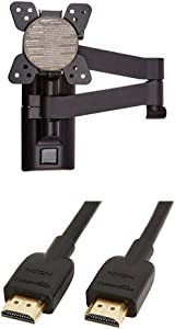 AmazonBasics Heavy-Duty, Full Motion Articulating TV Wall Mount for 12-inch to 39-inch TVs & High-Speed HDMI Cable - 10 Feet (Latest Standard)
