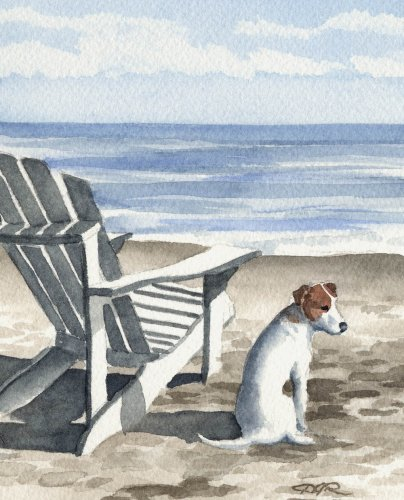 Jack Russell Terrier Art Print by Watercolor Artist DJ Rogers