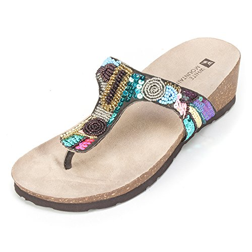 White Mountain Women's Cordoba Sandal,Brown Multi,7 M - White Mt Shoes For Women